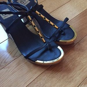 Dolce Vita Shoes - Dolce Vita black and gold heels
